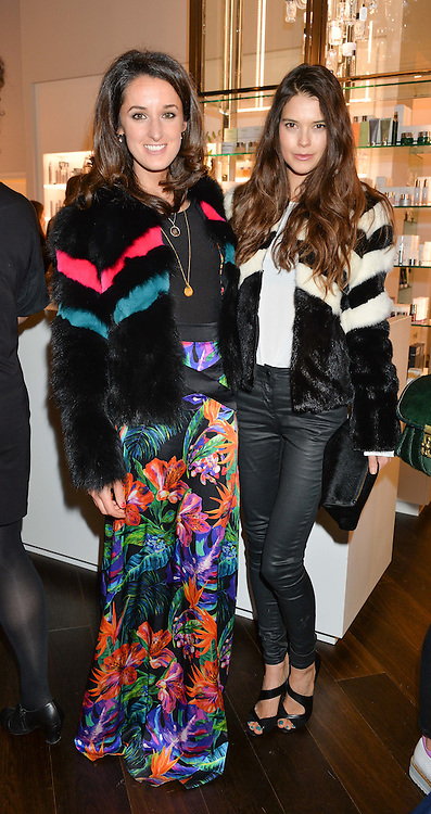 Left to right, ROSANNA FALCONER and SARAH ANN MACKLIN at the launch of the Space NK Global Flagship store at 285-287 Regent Street, London on 10th November 2016.
