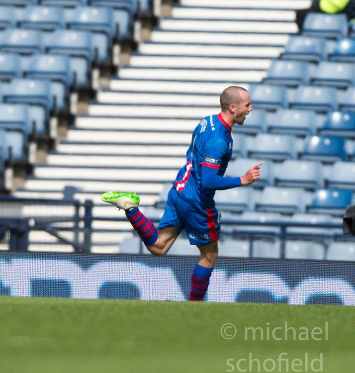 Inverness Caledonian Thistle's James Vincent cele scoring their second goal. Falkirk 1 v 2 Inverness CT, Scottish Cup final at Hampden.