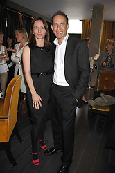 BEN DE LISI and DEBBIE LOVEJOY at a lunch in aid of Chickenshed showcasing Ben de Lisi's Spring Summer and Autumn 2007 Collections held at the Baglioni Hotel, 60 Hyde Park gate, London SW7 on 24th April 2007.<br />