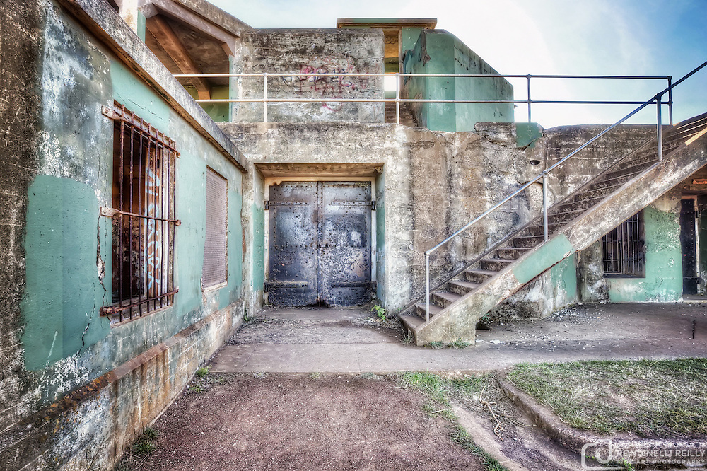 Photos of Battery Mendell. It is an abandoned concrete Endicott Period gun battery at Fort Barry in the Marin Headlands - Marin County , CA. It was orginally used as harbor defense in the early 1900s. Photo by Jennifer Rondinelli Reilly.