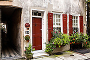 A private home in the French Quarter along Queen Street in historic Charleston, SC.