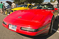 Sept. 15, 2012 - Red Chevy Corvette, with Nassau County, Long Island, New York license plate, is at the New Hyde Park, New York, U.S. - New York AutoFest at New Hyde Park Car Show and Street Fair.