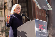 New York, NY - 24 March 2019. Senator Kirsten Gillibrand (D-NY) held a presidential campaign rally on New York's Central Park West in Front of the Trump Hotel  and Tower.