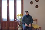 Mezzojuso: Irene Napoli, imprenditrice agricola vittima di tentativi di estorsione dalla mafia, <br /> Mezzojuso, Sicily: Irene Napoli, farmer victim of extortion attempt by mafia.