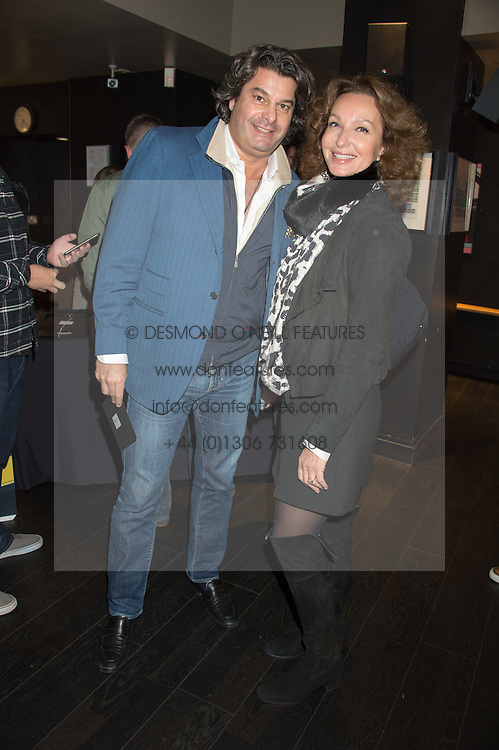 TIM MOUFARRIGE and ISABELLE de La BRUYERE at the Al Films and Warner Music Screening of Kill Your Friends held at the Curzon Soho Cinema, 99 Shaftesbury Avenue, London on 27th October 2015.