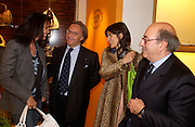 Trisha Simonon, Diego Della Valle, Bella Freud and Dante Ferretti. Tod's hosts Book signing with Dante Ferretti celebrating the launch of 'Ferretti,- The art of production design' by Dante Ferretti. tod's, Old Bond St. 19 April 2005.  ONE TIME USE ONLY - DO NOT ARCHIVE  © Copyright Photograph by Dafydd Jones 66 Stockwell Park Rd. London SW9 0DA Tel 020 7733 0108 www.dafjones.com