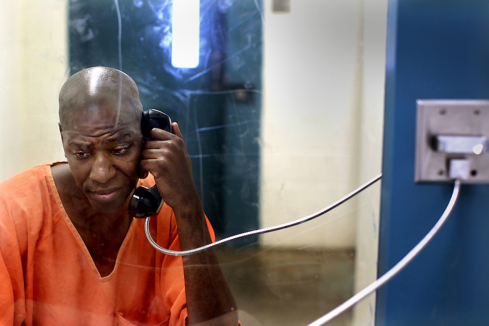 Willis Reed interviewed by The Dallas Morning News at Bradshaw State Jail in Henderson (Rusk County), Texas, June 10, 2010.  Reed was accidentally released from prison because of a clerk's error. He got out and spent the better part of a year working, enrolling in college and meeting, then marrying, his wife. When the clerk's error was realized, Reed, who didn't get into trouble while he was out, had to go back to prison for his robbery prison.  (Courtney Perry/The Dallas Morning News) 07062010xNEWS