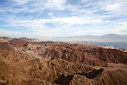 The colourful Eilat mountain range The gulf of Aqaba in the background