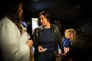Frankfurt | 16 April 2017<br /> <br /> Aktivisten der Hayir-Initiative trafen sich am Abend des Verfassungsreferendums in der T&uuml;rkei im G&uuml;nes-Theater in Frankfurt am Main, um gemeinsam die Berichterstattung der Medien zum Referendum zu beobachten und das Ergebnis abzuwarten.<br /> Hier: Die hessischen Landtagsabgeordnete M&uuml;rvet &Ouml;zt&uuml;rk (l) im Gespr&auml;ch mit Ilkay Y&uuml;cel, der Schwester des in der T&uuml;rkei inhaftierten Journalisten Denis Y&uuml;cel.<br /> <br /> photo &copy; peter-juelich.com<br /> <br /> Abdruck honorarpflichtig!<br /> No Model Release!<br /> No Property Release!
