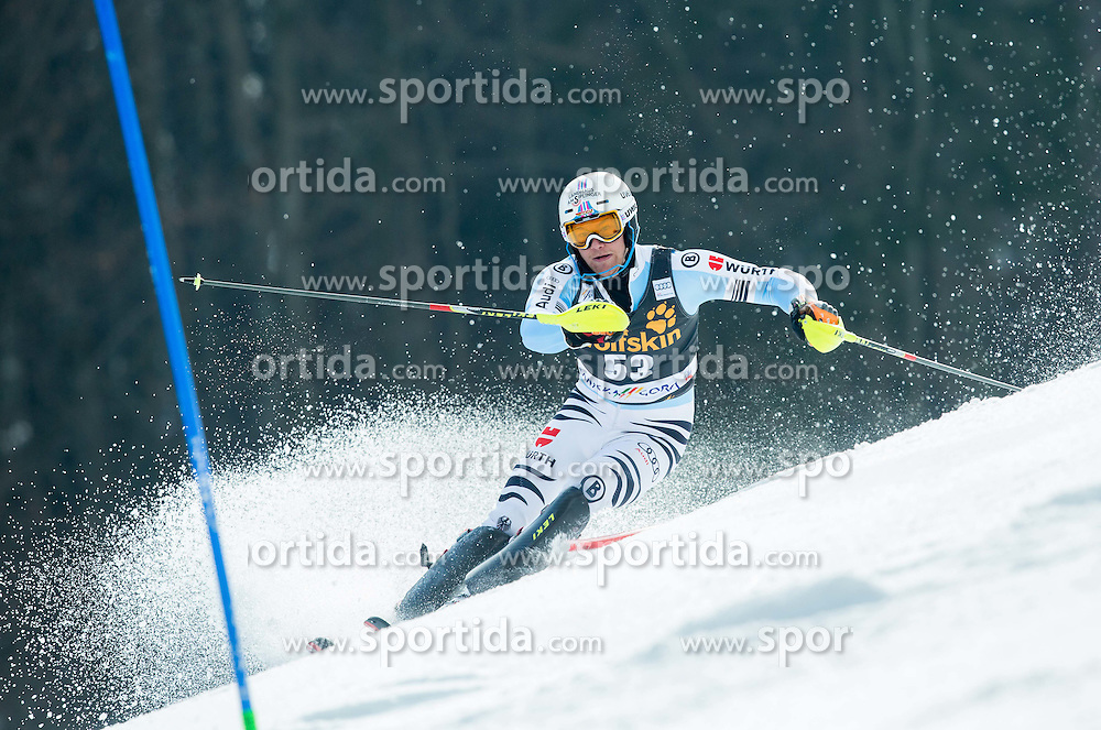 HOLZMANN Sebastian of Germany competes during 1st Run of Men Slalom race of FIS Alpine Ski World Cup 54th Vitranc Cup 2015, on March 15, 2015 in Kranjska Gora, Slovenia. Photo by Vid Ponikvar / Sportida