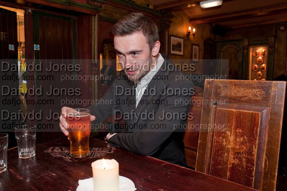 HARVEY ROBINSON, Opening in the West end of the Royal Court's Jerusalem after a run on Broadway..<br /> WAXY O CONNORS, 14-16 RUPERT STREET, LONDON . 17 October 2011.  <br /> <br />  , -DO NOT ARCHIVE-&copy; Copyright Photograph by Dafydd Jones. 248 Clapham Rd. London SW9 0PZ. Tel 0207 820 0771. www.dafjones.com.