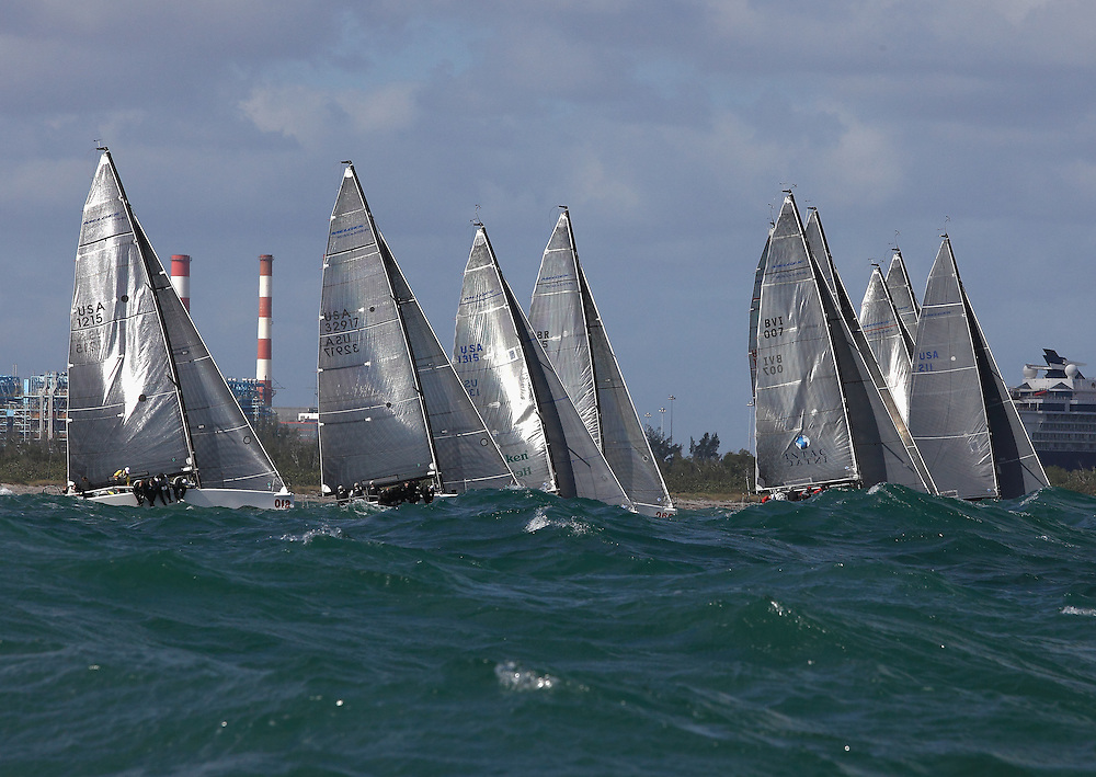 Melges 32s compete in the 2011 Gold Cup in Ft. Lauderdale.