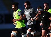 Ardie Savea, <br /> All Blacks training session at Eden Park ahead of the upcoming test series against France. Auckland, New Zealand. Thursday 7 June 2018. © Copyright photo: Andrew Cornaga / www.Photosport.nz