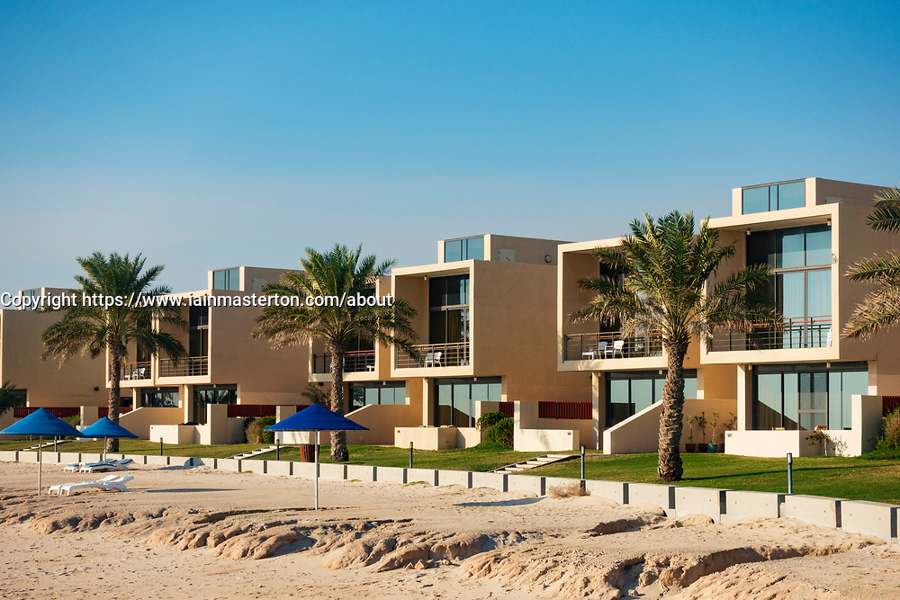 Modern beach front rental villas at Hilton Kuwait resort,Kuwait,  Middle East