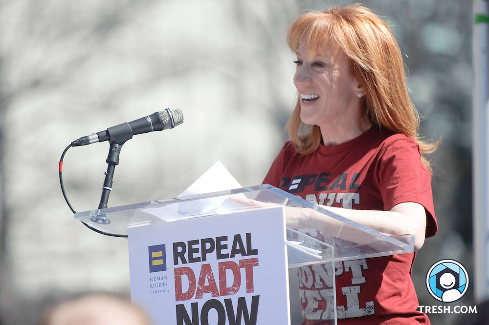 Images from the March 18, 2010, anti-DADT Rally from Freedom Plaza, Washington, D.C., with Kathy Griffin and Lt. Dan Choi. Without being scheduled to do so, the rally was led from Freedom Plaza to the White house by Army Lieutenant Dan Choi and Captain Jim Pietrangelo, who later were arrested for handcuffing themselves to the White House Fence.