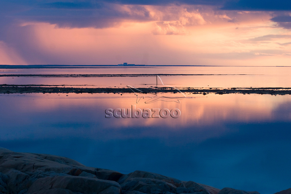 Sunrise over lake, Great Ocean Adventures Shoot, Churchill, Manitoba, Canada.