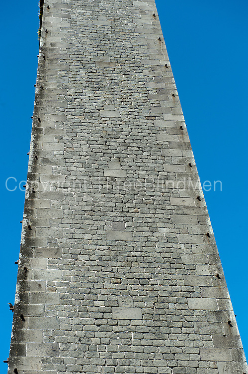 Stone Chimney at abandoned sugar mill. South of the island.