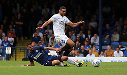 Colin Daniel of Peterborough United is tackled by Stephen McLaughlin of Southend United - Mandatory by-line: Joe Dent/JMP - 08/09/2018 - FOOTBALL - Roots Hall - Southend-on-Sea, England - Southend United v Peterborough United - Sky Bet League One