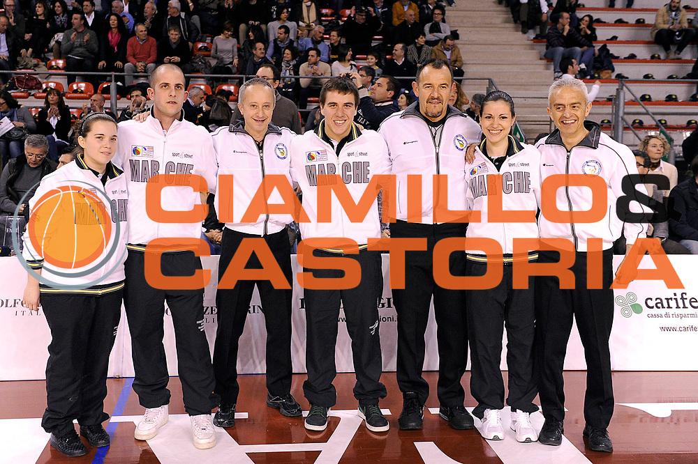 DESCRIZIONE : Ancona Lega A 2011-12 Fabi Shoes Montegranaro Scavolini Siviglia Pesaro<br /> GIOCATORE : referee<br /> CATEGORIA : referee arbitro<br /> SQUADRA : Fabi Shoes Montegranaro Scavolini Siviglia Pesaro<br /> EVENTO : Campionato Lega A 2011-2012<br /> GARA : Fabi Shoes Montegranaro Scavolini Siviglia Pesaro<br /> DATA : 01/04/2012<br /> SPORT : Pallacanestro<br /> AUTORE : Agenzia Ciamillo-Castoria/C.De Massis<br /> Galleria : Lega Basket A 2011-2012<br /> Fotonotizia : Ancona Lega A 2011-12 Fabi Shoes Montegranaro Scavolini Siviglia Pesaro<br /> Predefinita :