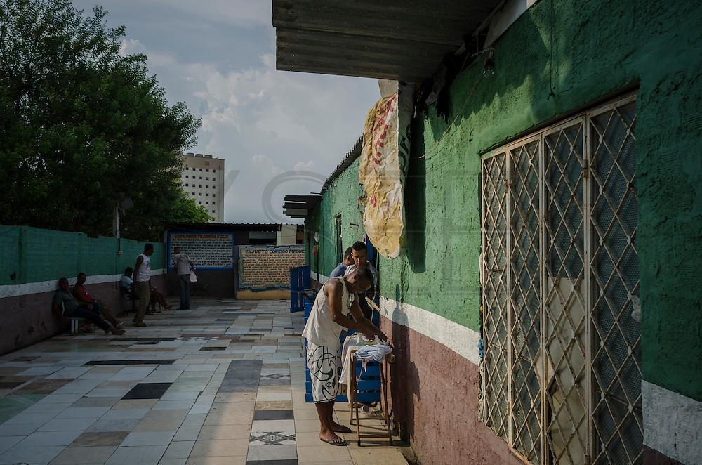People spend an afternoon in Amor de Deus Recovery Center, Del Castilho, Rio de Janeiro.