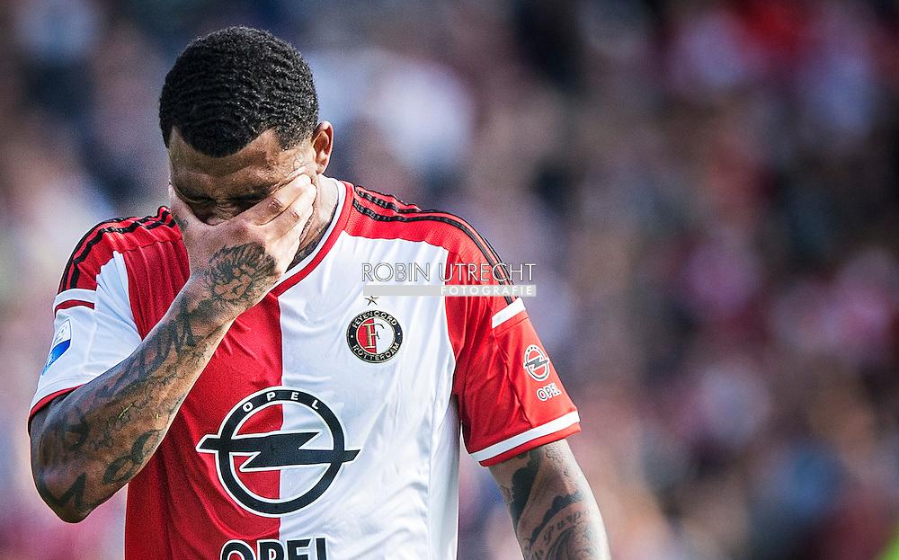 ROTTERDAM - Feyenoord ajax in de Kuip , Feyenoord verloor de wedstrijd met 0-1  in actie  COPYRIGHT ROBIN UTRECHT Colin Kazim Richards baalt na de verloren wedstrijd