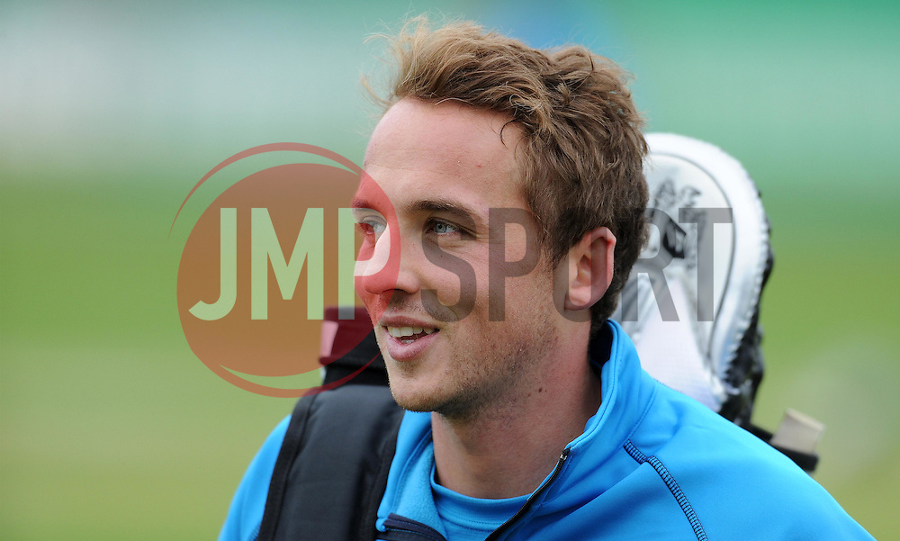 Somerset's Josh Davey - Photo mandatory by-line: Harry Trump/JMP - Mobile: 07966 386802 - 30/03/15 - SPORT - CRICKET - Pre Season Fixture - T20 - Somerset v Gloucestershire - The County Ground, Somerset, England.