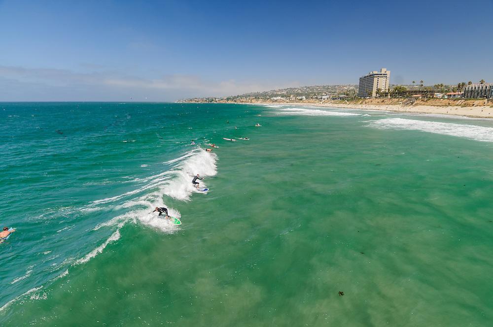 Surfers, Beach at Ocean Boulevard, San Diego, California