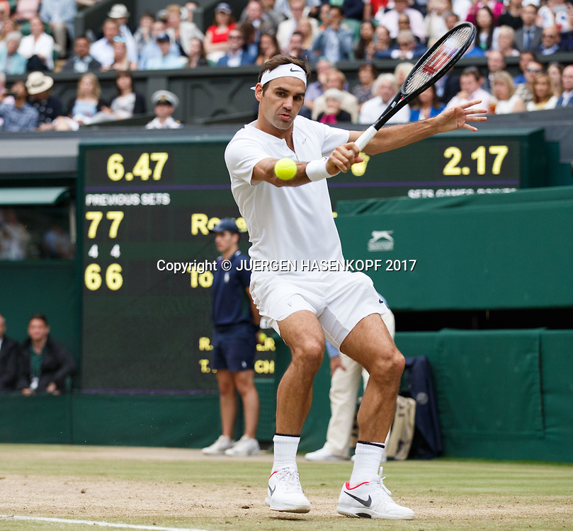 ROGER FEDERER (SUI)<br /> <br /> Tennis - Wimbledon 2017 - Grand Slam ITF / ATP / WTA -  AELTC - London -  - Great Britain  - 14 July 2017.