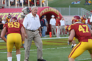 September 3, 2009: Iowa State defensive coordinator Wally Burnham during warmups before the start of the Iowa State Cyclones' 34-17 win over the North Dakota State Bison at Jack Trice Stadium in Ames, Iowa on September 3, 2009.