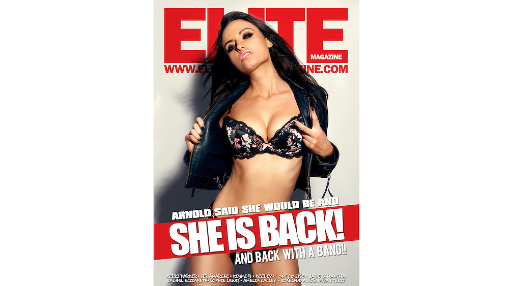 Elite Online Magazine cover with Sarah Arnold
