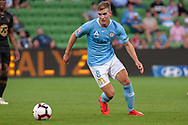 MELBOURNE, VIC - JANUARY 22: Melbourne City midfielder Riley McGree (8) controls the ball at the Hyundai A-League Round 15 soccer match between Melbourne City FC and Western Sydney Wanderers at AAMI Park in VIC, Australia 22 January 2019. Image by (Speed Media/Icon Sportswire)