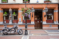 Neary's bar on Chatham Street in Dublin Ireland, a traditional unspoilt Edwardian pub