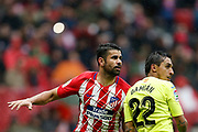 Atletico Madrid's Spanish forward Diego Costa reacts during the Spanish Championship Liga football match between Atletico Madrid and Getafe on January 6, 2018 at the Wanda Metropolitano stadium in Madrid, Spain - Photo Benjamin Cremel / ProSportsImages / DPPI