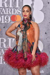 February 20, 2019 - London, United Kingdom of Great Britain and Northern Ireland - Jorja Smith arriving at The BRIT Awards 2019 at The O2 Arena on February 20, 2019 in London, England  (Credit Image: © Famous/Ace Pictures via ZUMA Press)