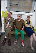 RICHARD GRAYSON;ROBIN KLASSNIK;  MELANIE JACKSON, Matt's Gallery 35th birthday fundraising supper.  42-44 Copperfield Road, London E3 4RR. 12 June 2014.