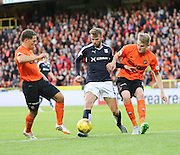 Dundee's Rory Loy is shut down by United's John Rankin and Coll Donaldson -  Dundee United v Dundee at Tannadice<br /> - Ladbrokes Premiership<br /> <br />  - &copy; David Young - www.davidyoungphoto.co.uk - email: davidyoungphoto@gmail.com