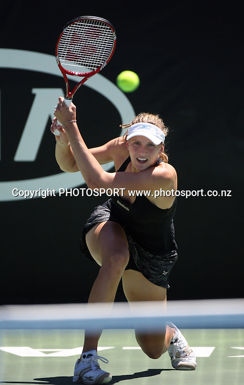 Nicole Vaidsova (RUS) during the second round at the ASB Classic, Stanley st Tennis Centre, Auckland, New Zealand. Wednesday 7  January 2009. Photo: Andrew Cornaga/PHOTOSPORT