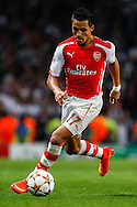 Alexis Sanchez of Arsenal during the UEFA Champions League match at the Emirates Stadium, London<br /> Picture by David Horn/Focus Images Ltd +44 7545 970036<br /> 27/08/2014