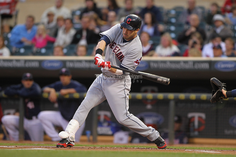 MINNEAPOLIS, MN - SEPTEMBER 7: Jason Kipnis #22 of the Cleveland Indians bats against the Minnesota Twins on Sepetember 7, 2012 at Target Field in Minneapolis, Minnesota. The Indians defeated the Twins 7-6. (Photo by Brace Hemmelgarn) *** Local Caption *** Jason Kipnis