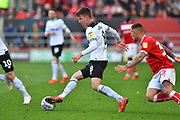 Mason Mount (8) of Derby County on the attack during the EFL Sky Bet Championship match between Bristol City and Derby County at Ashton Gate, Bristol, England on 27 April 2019.