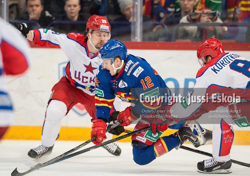 Steve Moses. Jokerit - Tsska Moskova. KHL. 16.3.2015. Photo: Jussi Eskola