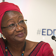 04 June 2015 - Belgium - Brussels - European Development Days - EDD - Urban - Solid ground - Access to land for vulnerable people in developing countries - Clara Doe Mvogo , Mayor of the City of Monrovia , Liberia © European Union