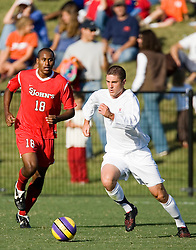 Virginia Cavaliers MF/D Chris Tierney (2)..The Virginia Cavaliers men's soccer team faced the St. John's Red Storm at Klockner Stadium in Charlottesville, VA on September 16, 2007.