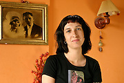 29.06.2006 Warsaw Poland. Sylwia Chutnik chairman of MaMa foundation in her apartment. Photo Piotr Gesicki