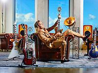 Amsterdam  15-08-16 Singer-Songwriter zanger Jett Rebel ©Marco Hofste