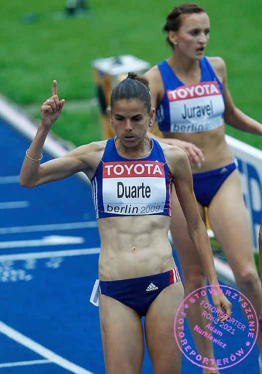 BERLIN 15/08/2009.12th IAAF World Championships in Athletics Berlin 2009.3000 Metres Steeplechase - Women.Sophie Duarte of France ..Phot: Piotr Hawalej / WROFOTO
