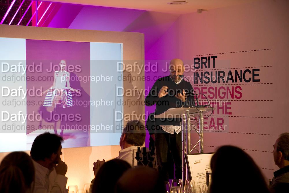 HUSSEIN CHALAYAN, Brit Insurance Design Awards. Design Museum. London. 18 March 2008.  *** Local Caption *** -DO NOT ARCHIVE-© Copyright Photograph by Dafydd Jones. 248 Clapham Rd. London SW9 0PZ. Tel 0207 820 0771. www.dafjones.com.
