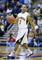 February 13, 2010; Berkeley, CA, USA; California Golden Bears guard Jerome Randle (3) during the first half against the Washington State Cougars at the Haas Pavilion.  California defeated Washington State 86-70.