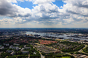 Nederland, Noord-Holland, Gemeente Amsterdam, 14-06-2012; Amsterdam-Noord. Molenwijk en Tuindorp Oostzaan. Op het tweede plan het IJ en bebouwing binnenstad Amsterdam..Amsterdam-North, residential neighbourhood and former harbour area...luchtfoto (toeslag), aerial photo (additional fee required);.copyright foto/photo Siebe Swart