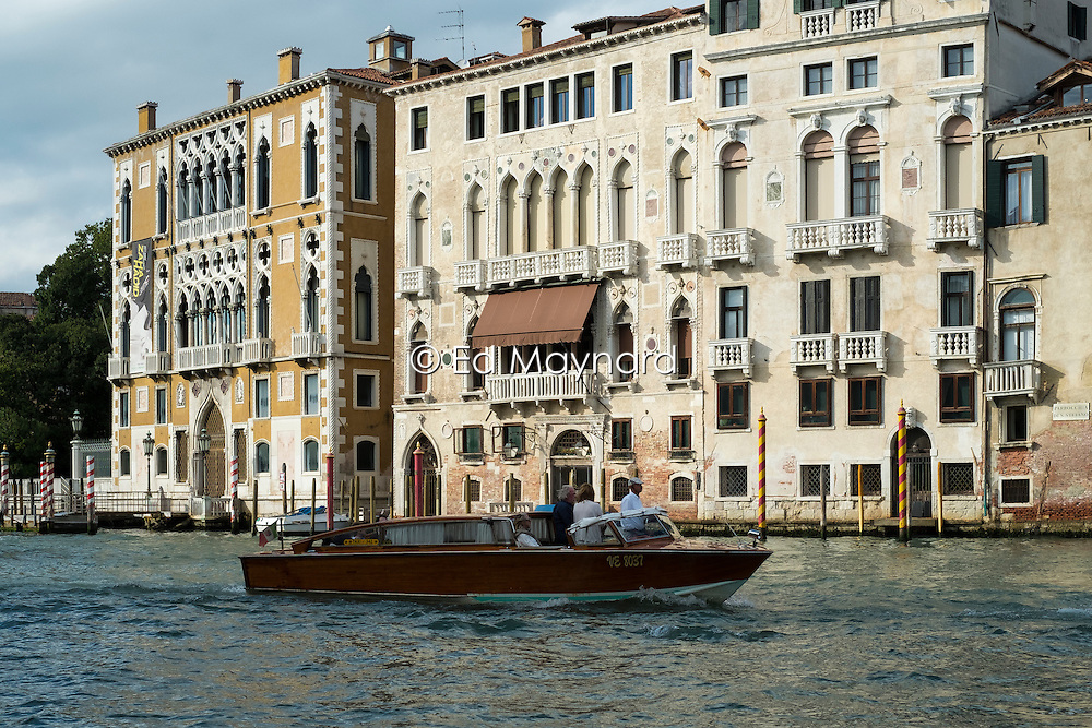 View of the Grand Canal, Accademia, Venice, Italy.<br />